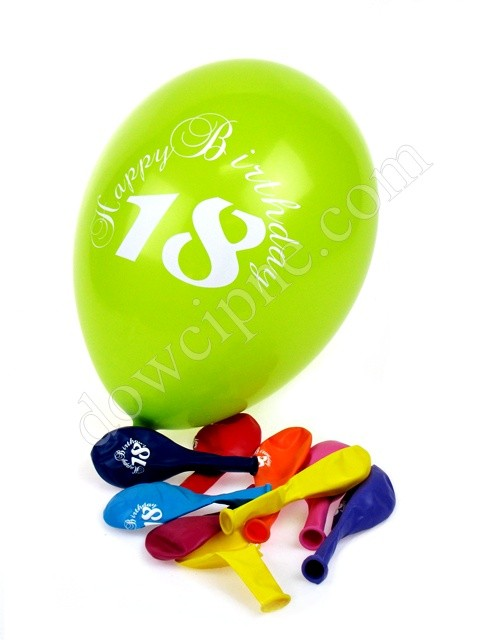 Balony AM - 18 Happy Birthday (10 szt)
