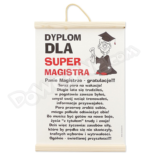 Dyplom - Pan magister