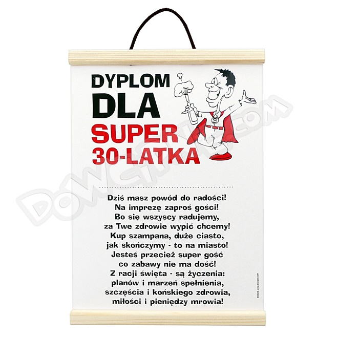 Dyplom - 30 on super