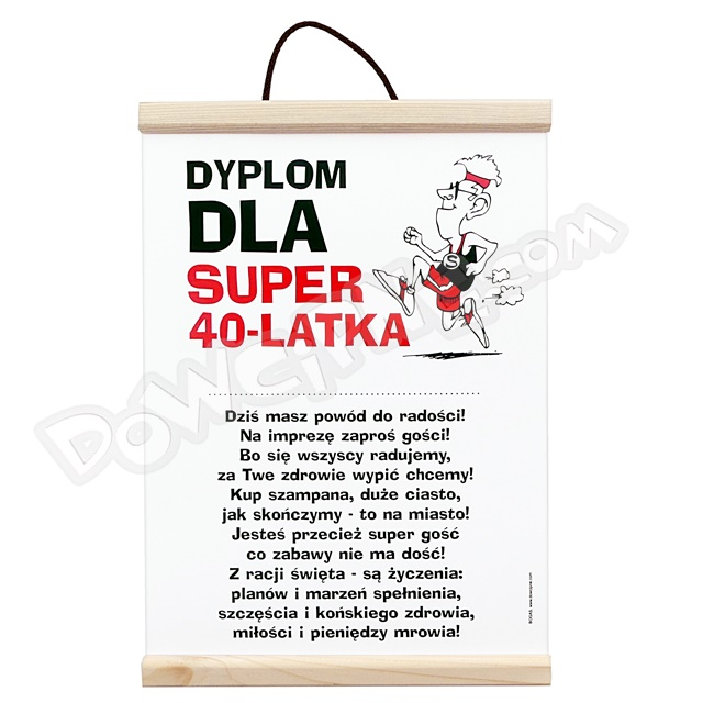 Dyplom - 40 on super