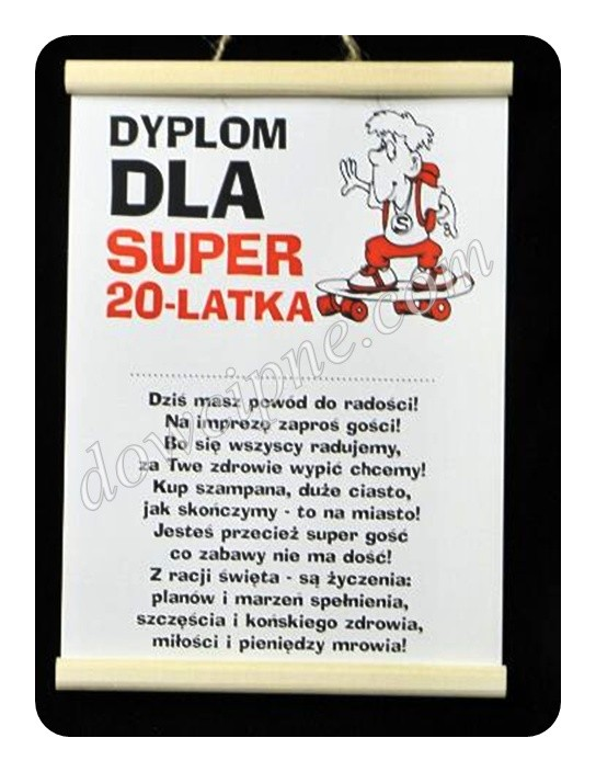 Dyplom - 20 on super