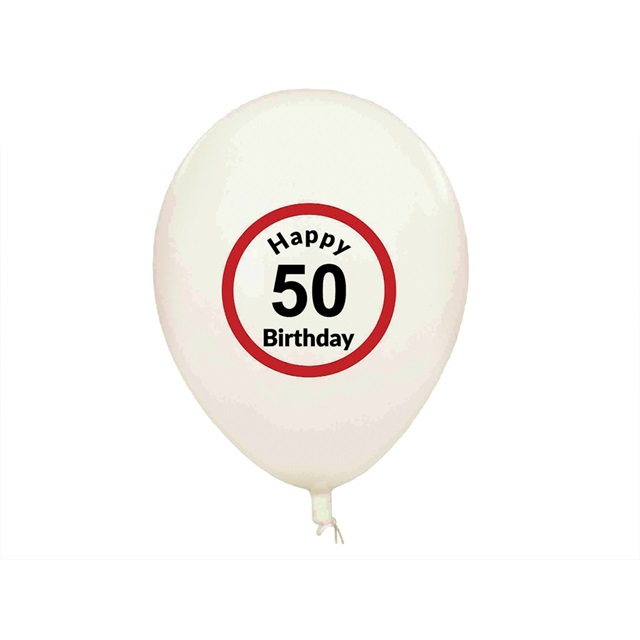 Balony Happy Birthday (5 szt.) - 50