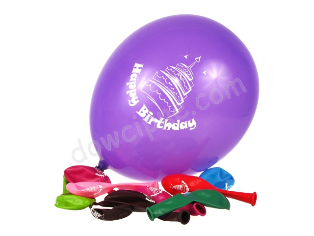Balony AM - Happy Birthday (10 szt)