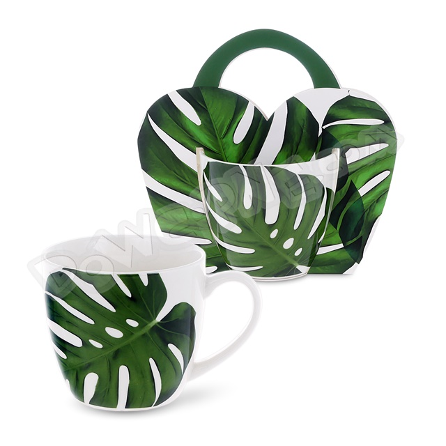 Kubek 460ml MONSTERA