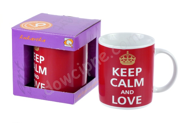 Kubek Q mały 563 - Keep calm and love
