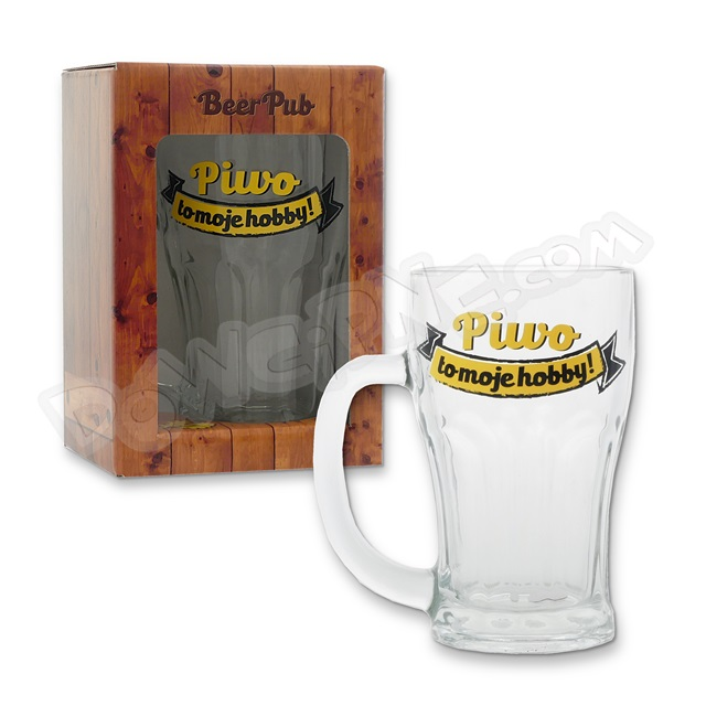 Kufel BEER PUB 480ml - Piwo to moje hobby!