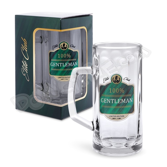 Kufel szklany 500ml Elite Club - 100% Gentleman