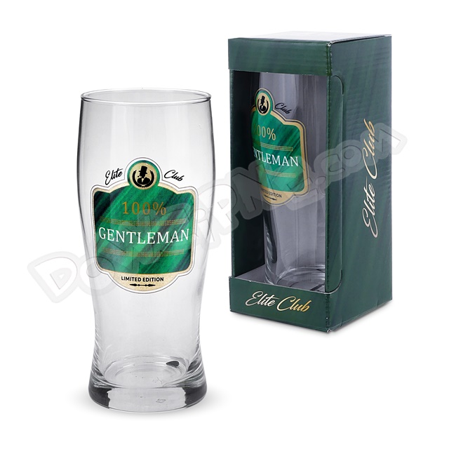 Szklanka do piwa 500ml Elite Club - 100% Gentleman